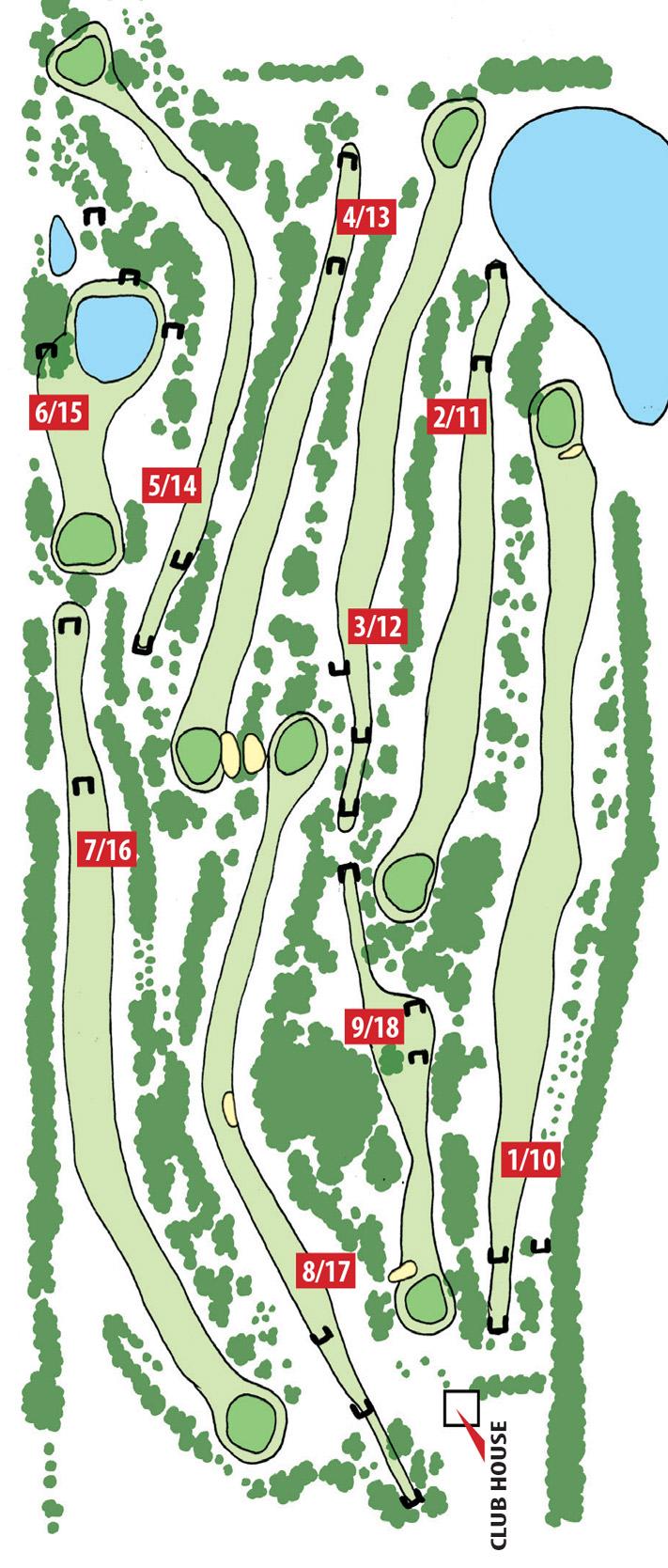 Kapunda Golf Club Course Map